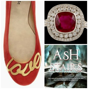 AOTS collage red shoe ring